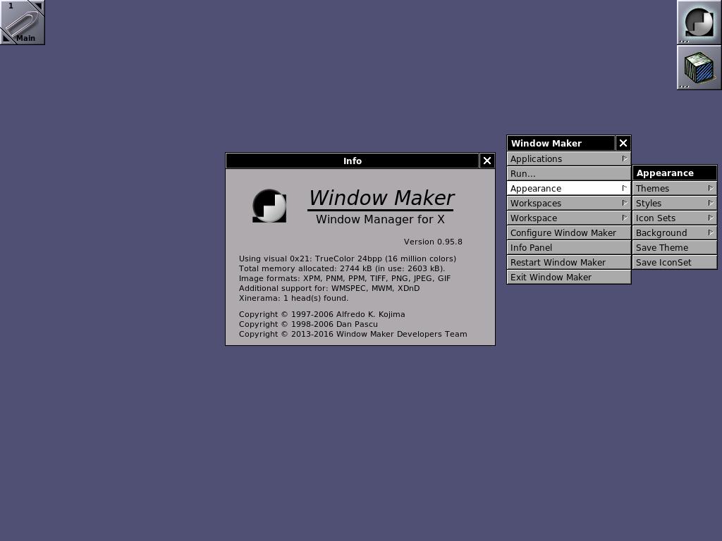 Window Maker: Home